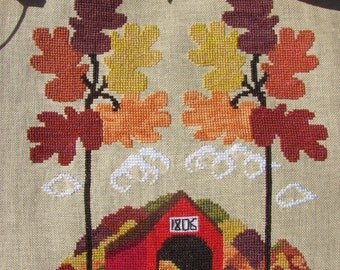 Autumn In Vermont counted cross stitch chart