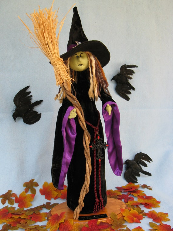 Cloth Doll E-Pattern  A Beautiful yet Scary Halloween Witch
