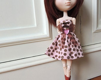 Pullip clothes. Dress for pullip, momoko, obitsu, azone, purenemo ... escale 1/6