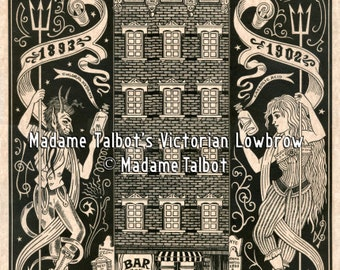 McGurk's Suicide Hall Bowery New York Victorian Lowbrow Madame Talbot Poster
