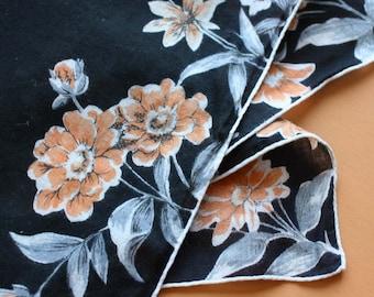 Vintage Handkerchief with Printed Wildflower Design