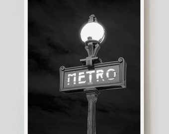 "Paris Print, Black and White Photography, ""Paris Noir 6"" Extra Large Wall Art, Fine Art Print Paris Photography,  Film Noir"