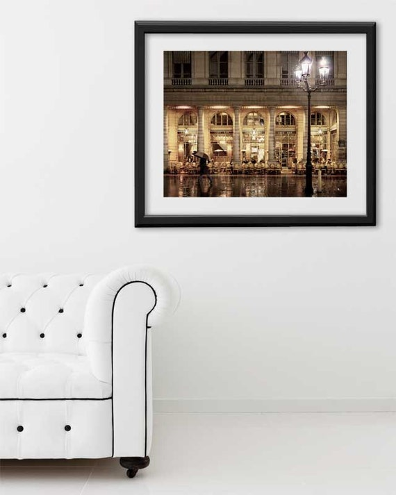 "SALE! Paris Print, ""Cafe Nemours"" Extra Large Wall Art, Paris Photography Art Print, Oversized Art, Fine Art Photography Paris Decor"