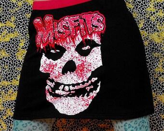 Misfits Skirt Horror Punk Mini Skirt Misfits Mini Skirt Bloody Skirt Punk Rock n Roll Blood Splatters Punk Clothing 77 CBGB Fiend Club