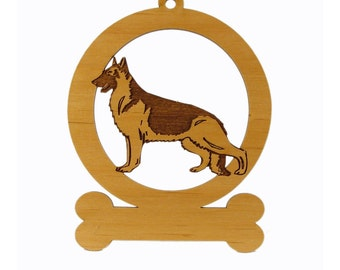 German Shepherd Standing Dog Ornament 083221 Personalized With Your Dog's Name