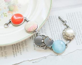 Cindy -  bracelet with vintage treasures