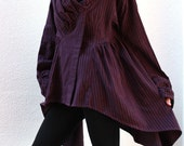 Striped fabric  winter jacket (426) One size