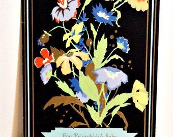 Art deco 1930s art deco floral print - 9 x 7 - Artist's proof - Probable Volland design - Buzza