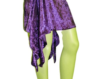 Purple Asymmetrical Belly Dance Fairy Skirt Handmade