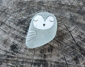 Grey Beach Glass Owl
