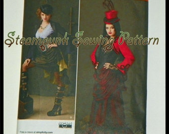 Neo Victorian Steampunk Sewing Pattern