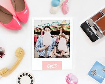 Modern Wedding Invitations - Retro Polaroid Wedding Invite