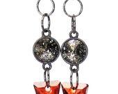 Swarovski Crystal Spike Dangle Earrings - As Seen on Atlanta & Company - black red gunmetal rocker chic glam glamorous edgy