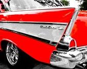 1950's Chevrolet Bel Air Fin & Chrome Fine Art Print- Car Art, Antique Car, Home Decor, Nursery Decor, Wall Art, Vintage Car
