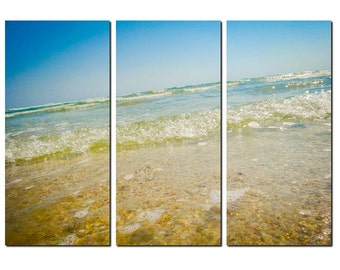 Canaveral National Seashore Canvas Triptych, 3 Panel Fine Art, LARGE, Ready to Hang