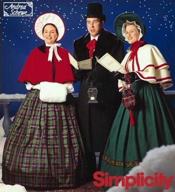 Joy And Noel Holiday Caroler: Rare CHRISTMAS CAROLERS Sewing Pattern Charles Dickens