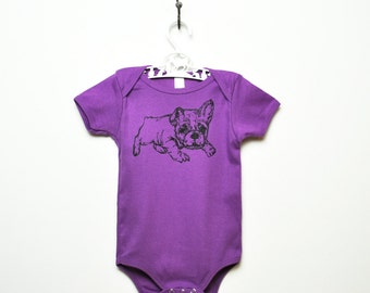 Organic Bulldog One-Piece- Violet