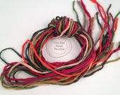 Silk Ribbon Cord Bundle Item No.335 Contains Ten 2mm Silk Ribbons Random Colors