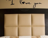 P.S. I love you vinyl lettering quote wall saying art decal removable love lettering sticker