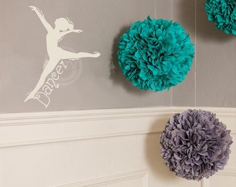 Dancer Decal wall saying vinyl lettering wall decal sticker