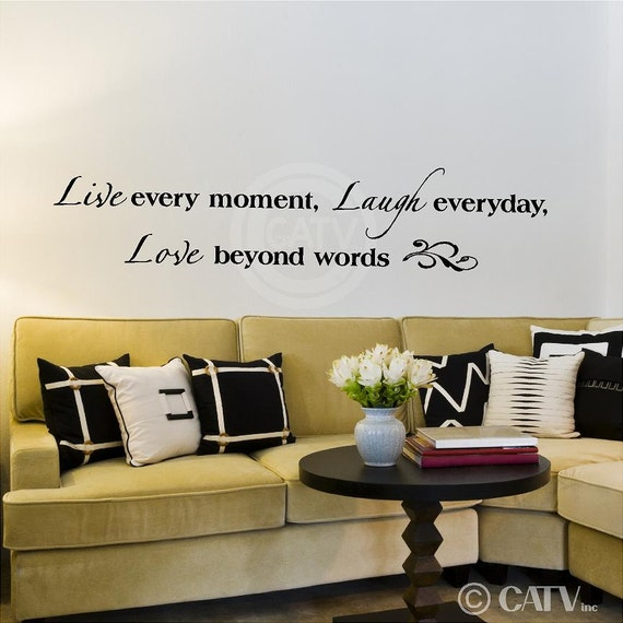 Beyond Words Customizable Wall Decor Kohls : Live every moment laugh everyday love beyond words vinyl