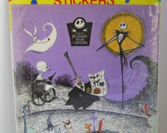 Pack of Vintage Nightmare Before Christmas Stickers 1993