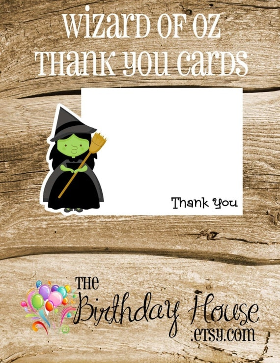 Oz Friends Party - Set of 8 Wicked Witch Thank You Cards by The Birthday House