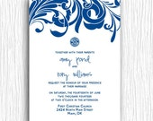 Printable Wedding Invitation - Blue and White Doctor Who