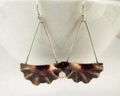 Copper Jewelry /Boho Jewelry /Copper Earrings /Mixed Metal Jewelry /Metal Jewelry /Bohemian /Statement Jewelry /Artisan Jewelry