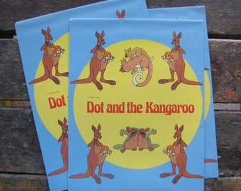 Vintage Dot and the Kangaroo Gift Wrap Wrapping Paper Brand New Old Stock