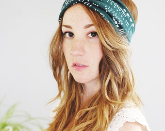Giza Turban - Peacock -Turban Headband - by Simka Sol