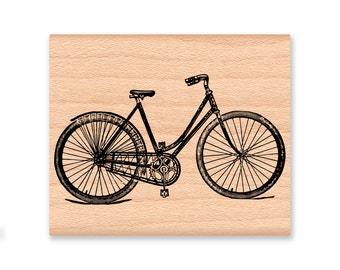 VINTAGE BIKE-wood mounted rubber stamp (30-20)