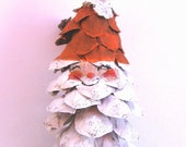 Large Santa Claus Pine Cone Ornament