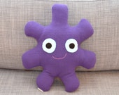 Dark Purple Fleece Stuffed Monster, Hailey