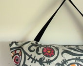 Yoga Mat Bag, Gray Yoga Bag, Large Zippered Yoga Bag, Pilates Mat Bag, Womens Yoga Bag