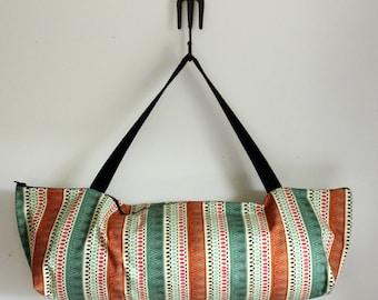 LARGE Yoga Bag Pilates Mat Bag Top-loading with Zipper, Tribal Yoga Bag, Multicolored Utah Stripe, Geometric Design