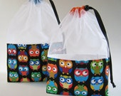 Owls At-A-Glance Knitting/Crochet/Spinning Project Bags - Large or Medium