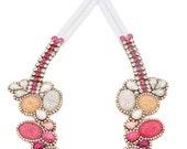 SALE- Doloris Petunia's Seurat Necklace - Color Fade in Plum Tones