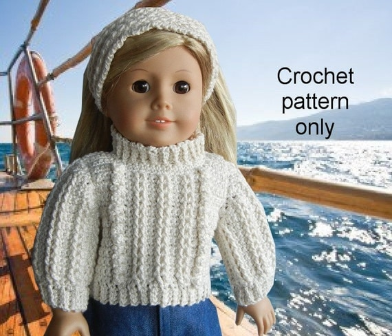 Knit And Crochet Patterns For 18 Inch Dolls : Crochet pattern PDF for 18 inch child doll American Girl or