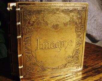 Handbound Mini Journal Etched Brass