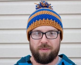 Hogwarts houses crochet hat - Ravenclaw