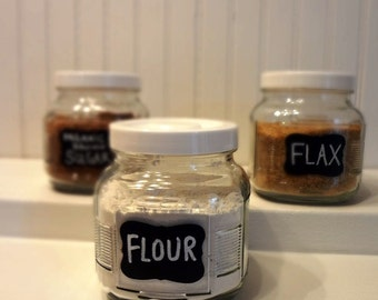 24 Fancy Chalkboard Labels  -  Mason Jar Labels, Pantry Labels, Chalkboard Stickers, Peel and Stick, 2016
