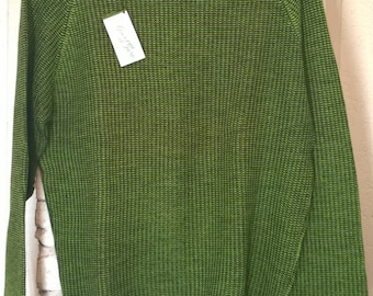 Vintage 1950s Sweater by Guiseppe de Faro, New With Tags Deadstock NWT, Gino Paoli 100% Wool