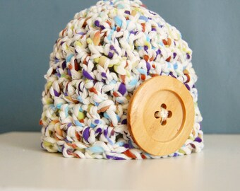 Crochet Cute as a Button Newborn-Infant-Baby Hat - Photography Prop - Baby Shower Gift!