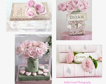 Items similar to Spring Pink flower photographydreamy shabby