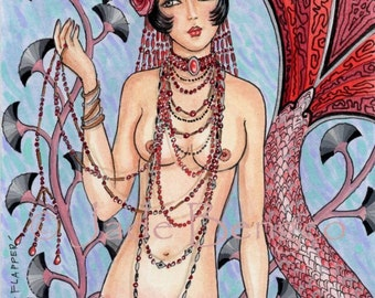 FLAPPER Mermaid limited edition fine art print