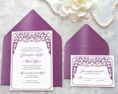 Chinoiserie Asian Wedding Invitations - Chinese Wedding - Art Deco Wedding - Chinese Blossom