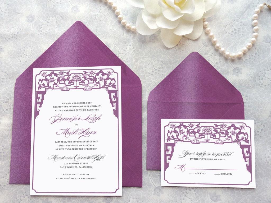 Chinese Wedding Invitations Nyc: Chinoiserie Asian Wedding Invitations Chinese Wedding Art