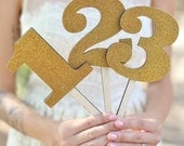 GOLD Table Numbers Rustic Chic Wedding By Morgann Hill Designs (Item Number MHD20024)