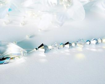 Ceiling Fan Pull Chain Swarovski Crystal Light Pulls Silver Room Decor Prism Suncatcher Hanging Crystal